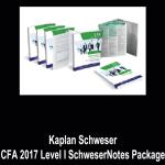 Kaplan Schweser – CFA 2017 Level I SchweserNotes Package