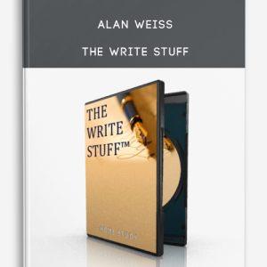 Alan Weiss – The Write Stuff