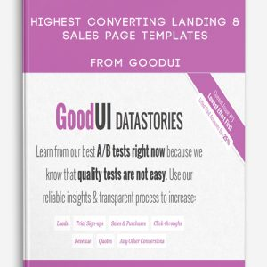 Highest Converting Landing & Sales Page Templates from GoodUI